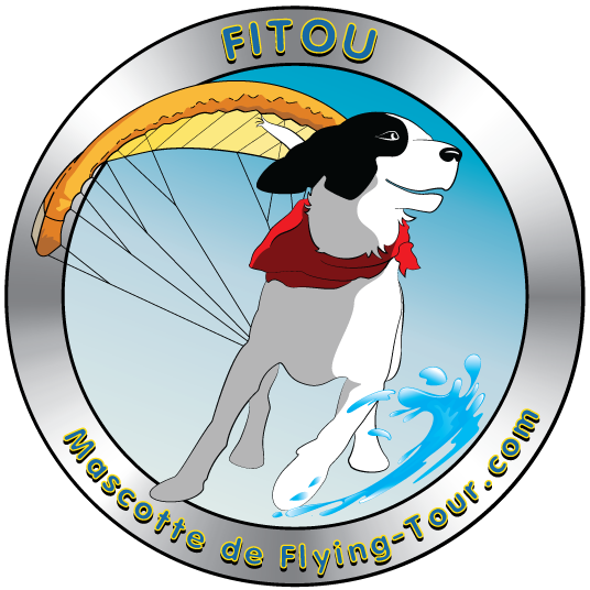 Fitou mascotte Flying tour paramoteur